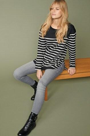 Black/White Striped Tunic
