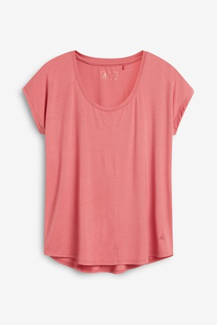 Pink Short Sleeve Slouch Sports Top