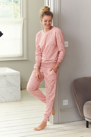 Foil Star Cosy Pyjama Set by Next