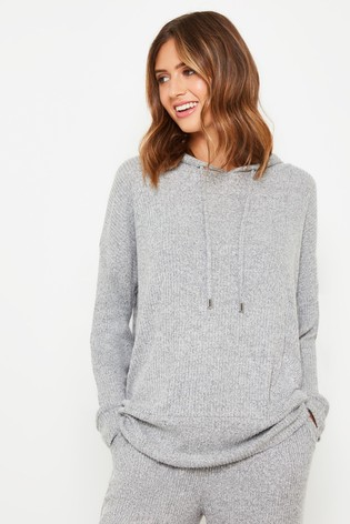 F&F Grey Brushed Waffle Hoody by Next