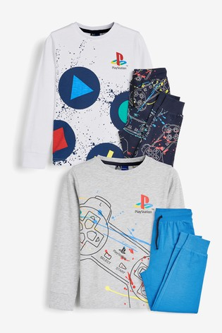 Multicoloured 2 Pack Play Station™ Pyjamas (3 16yrs) by Next