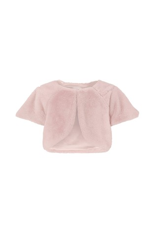 Monsoon Children Pink Florence Faux Fur Cover Up by Next