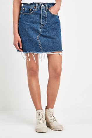 Levi's® Deconstructed Denim Mini Skirt