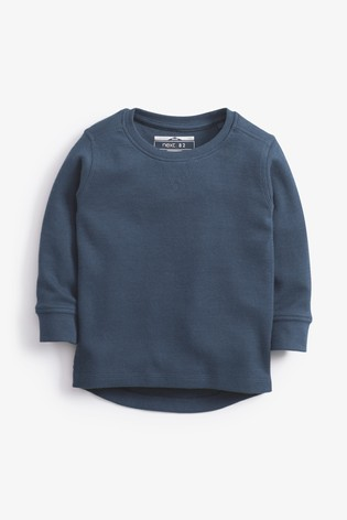 Teal Long Sleeve Textured T-Shirt (3mths-7yrs)