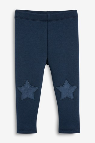 Navy Fleece Lined Leggings (3mths-7yrs)
