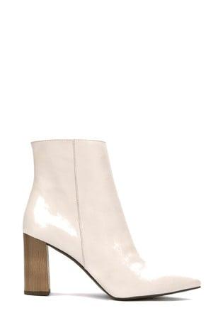 Mint Velvet Melanie Off White Boots