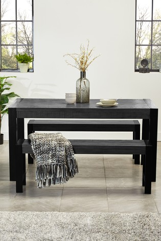 Pleasing Hudson Grey Dining Table And Bench Set Alphanode Cool Chair Designs And Ideas Alphanodeonline
