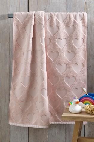 Pink Heart Towel