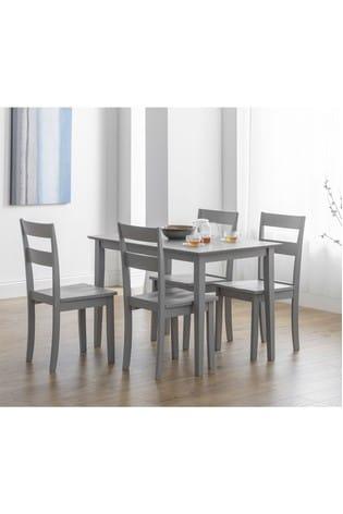 Kobe 4 Seater Dining Table Set by Julian Bowen