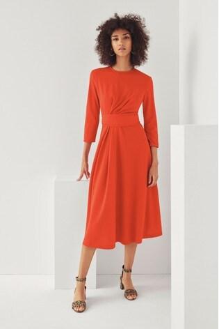 Mix/Edeline Lee Tie Belted Jersey Dress