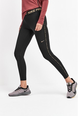 best cheap running shoes multiple colors Nike Pro Black Warm Golden Fierce Leggings