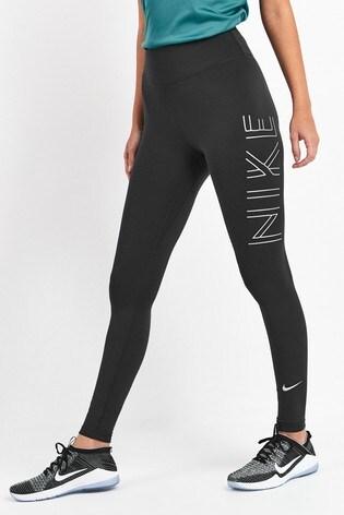brand new cute super popular Nike Shine Black Running Leggings