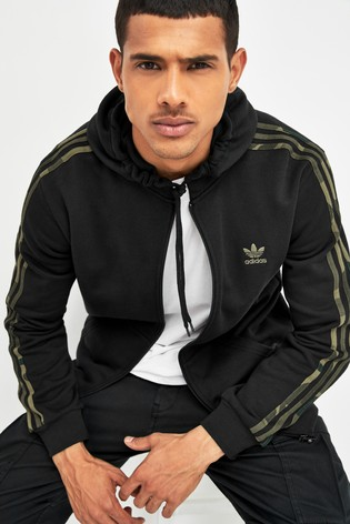 adidas Originals Men's 3 Stripes Zip Hoodie