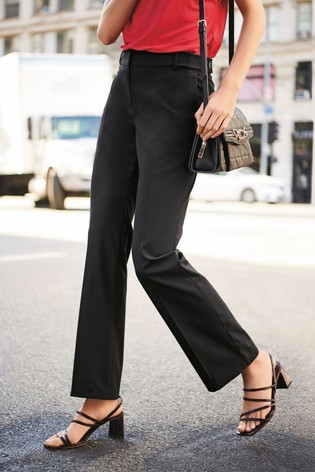 Black Tailored Boot Cut Trousers