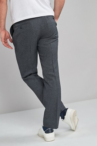 Charcoal Slim Fit Check Trousers