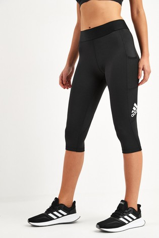 adidas Black Alphaskin Capri Leggings