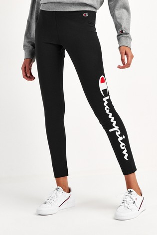 Champion 7/8 Leggings with Vertical Large Script Logo