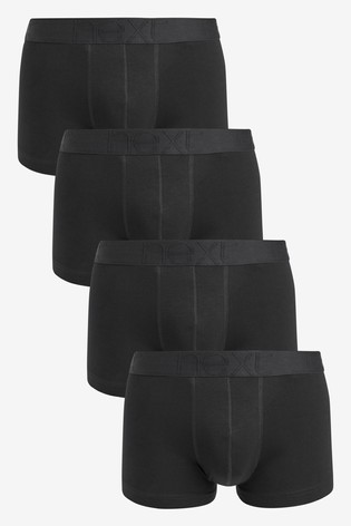 Black Organic Cotton Hipsters Four Pack