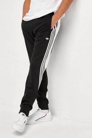 adidas Originals Black Wrap 3 Stripe Track Pants