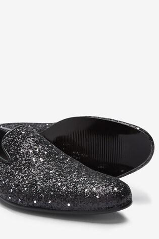 Black Glitter Party Loafer