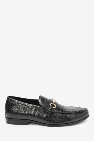 Black Snaffle Party Loafers