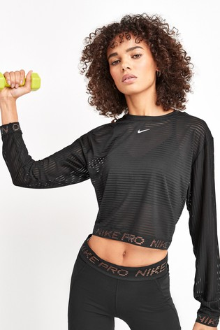 Nike Mesh Long Sleeve T-Shirt