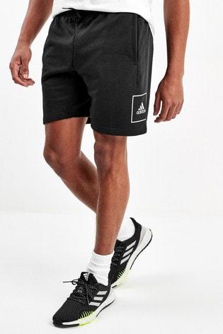 adidas Must Have Black 3 Stripe Tape Shorts