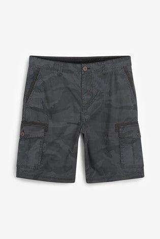 Blue Camouflage Cargo Shorts