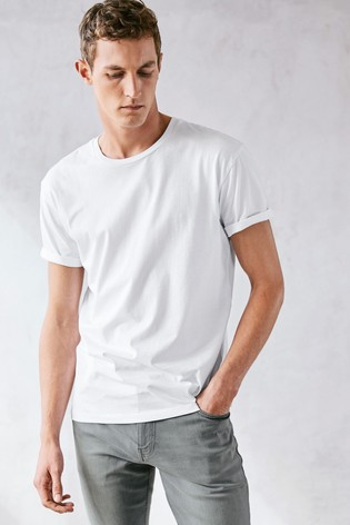 White Regular Fit Crew Neck T-Shirt