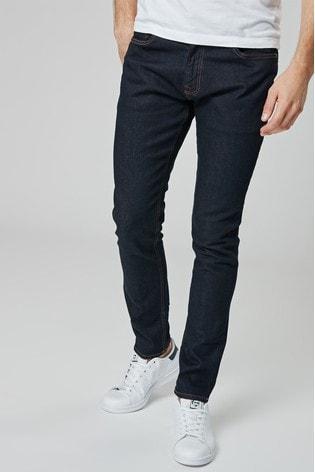 Dark Ink Skinny Fit Jeans With Stretch