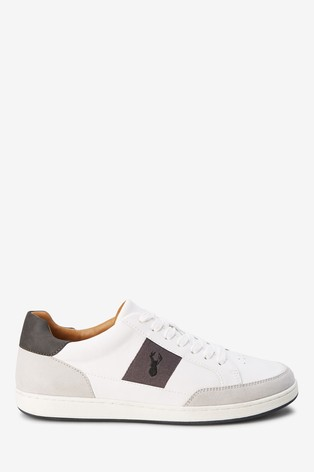 White Side Stripe Trainer