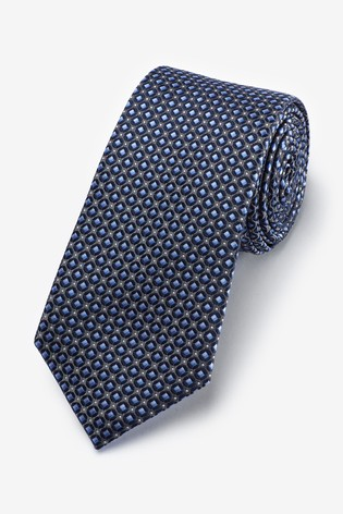 Blue Geometric Pattern Tie