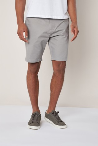 Grey Classic Chino Shorts