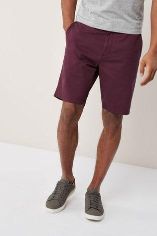 Burgundy Classic Chino Shorts