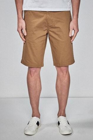 Dark Tan Classic Chino Shorts