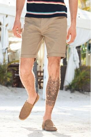 Stone Slim Fit 5 Pocket Chino Shorts