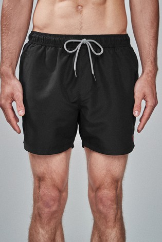 Black Essential Swim Shorts