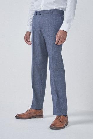 Light Blue Regular Fit Puppytooth Trousers
