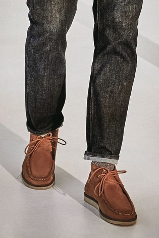 Tan Suede Wallabee Boots