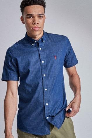 Indigo Slim Fit Denim Shirt
