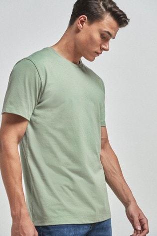 Green Regular Fit Crew Neck T-Shirt