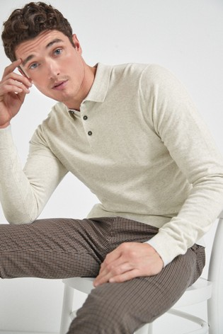 White Knitted Polo