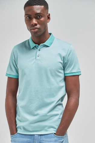 Mint Regular Fit Texture Polo