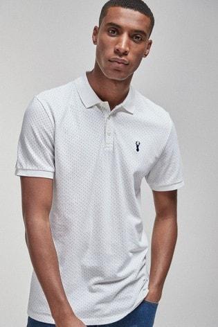 White Spot Slim Fit Pique Poloshirt