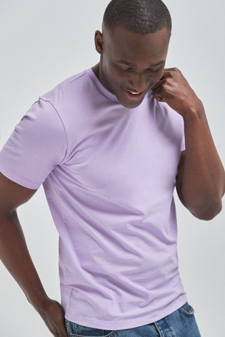 Lilac Slim Fit Crew Neck T-Shirt