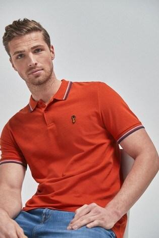 Orange Tipped Regular Fit Poloshirt