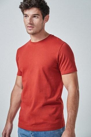 Terracotta Slim Fit Crew Neck T-Shirt