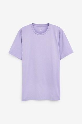 Lilac Regular Fit Crew Neck T-Shirt