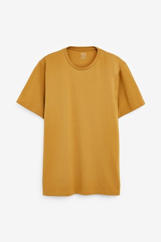 Mustard Regular Fit Crew Neck T-Shirt