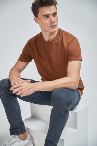 Brown Regular Fit Crew Neck T-Shirt